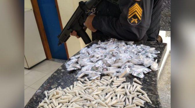 POLÍCIA APREENDE GRANDE QUANTIDADE DE COCAINA NA CIDADE NOVA EM PÁDUA