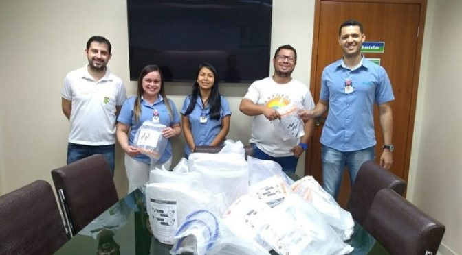 IFF entrega protetores faciais para combate ao COVID-19 no Hospital São José do Avaí, em Itaperuna