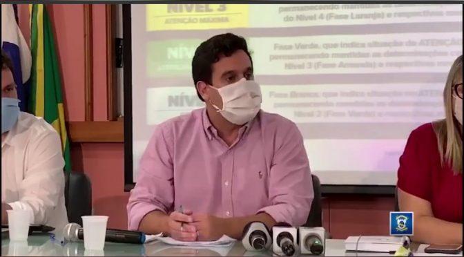 Prefeito anuncia fase laranja a partir desta terça no enfrentamento à covid-19