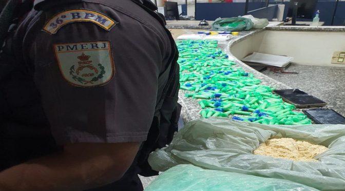 Um menor, um jovem e uma jovem são presos com grande quantidade de drogas no Demétrio em Miracema